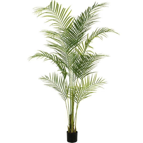 人工観葉植物 全高1.9m アレカヤシ 簡易ポット ヤシ類 トロピカル 人工樹木 造花 インテリアグリーン フェイクグリーン オブジェ ディスプレイ 装飾
