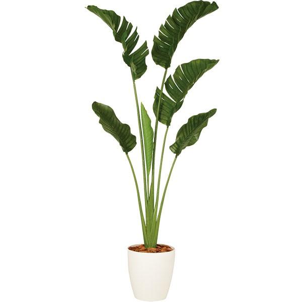 人工観葉植物 全高2.0m ストレリチア オーガスタ ホワイト鉢 人工樹木 造花 花材 リーフ インテリアグリーン フェイクグリーン トロピカルグリーン オブジェ ディスプレイ 装飾