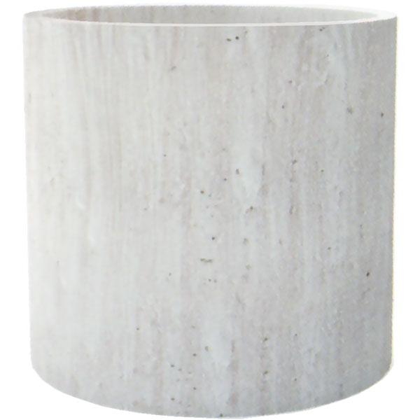 植木鉢 コーテス シリンダー ホワイトウオッシュ L38 全高36cm×直径38cm 底穴あり セメント コンクリート ファイバーグラス FRP プランター ポット 園芸 ガーデニング