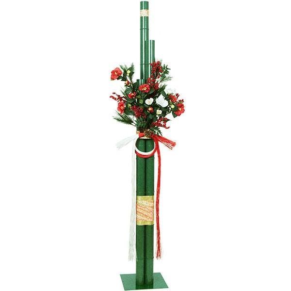人工観葉植物 正月 若竹 スタンド セット 全長1.9m 正月飾り 門松 かどまつ 造花 人工樹木 花材 リーフ グリーン材 フェイクグリーン アレンジ ディスプレイ 2分割式