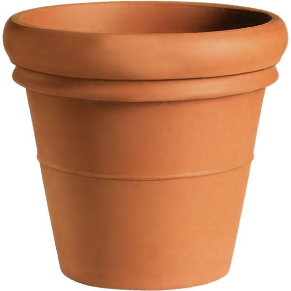 植木鉢 テラコッタ リムポット 17号 全高45cm×直径52cm 底穴あり 素焼き 陶器製 プランター ポット 器 園芸 ガーデニング 寄せ植え