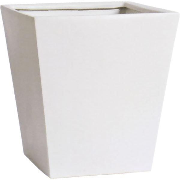 植木鉢 MP01MWH ホワイト 13号 全高42cm×口39cm 底穴あり 陶器製 イコミ製法 軽量プランター ポット 器 観葉鉢 園芸 寄せ植え ガーデニング
