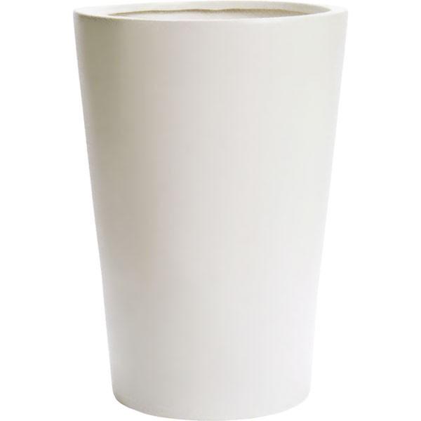 植木鉢・MP08wh・ホワイト(13号)(全高58cm×直径40cm)(底穴あり)(陶器製)(イコミ製法)(軽量プランター/ポット/器)(観葉鉢/園芸/寄せ植え/ガーデニング)