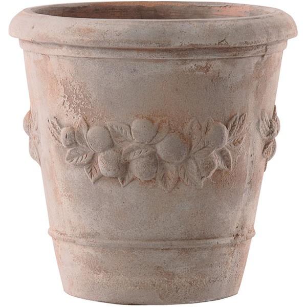 植木鉢 テラコッタ モンテガロ アンティコ45 15号 全高45cm×直径45cm 底穴あり イタリア製 アンティーク仕上げ 素焼き 陶器製 プランター