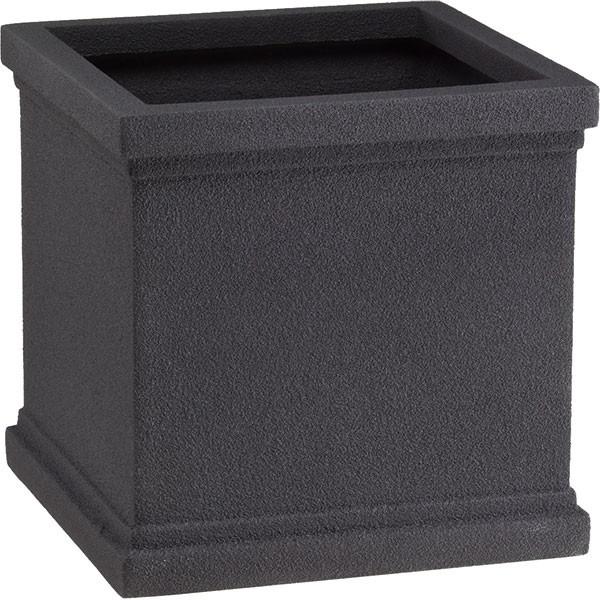 鉢カバー FRP製 クラウン CS型 ブラック 8~10号用 全高40cm×口径40cm 軽量プランター 植木鉢 鉢 器 花器 ファイバーグラス 樹脂製 観葉植物用