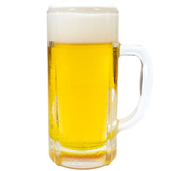 飲食店のディスプレイにかかせない生ビールの食品サンプル  【食品サンプル】 生ビール 中ジョッキ 高さ17.3cm×直径7.7cm お酒 生中 ビアグラス ビールグラス アルコール 日本製 フェイクフード オブジェ 装飾