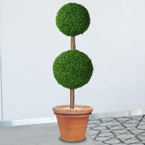 人工観葉植物 全高1.5m ボックスウッド トピアリー ダブル 人工樹木 造花 フェイクグリーン インテリアグリーン オブジェ