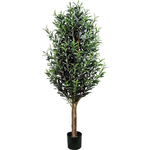 人工観葉植物 全高1.75m 実付き オリーブ オレイフ 人工樹木 造花 花材 リーフ 葉材 インテリアグリーン フェイクグリーン オブジェ ディスプレイ 装飾