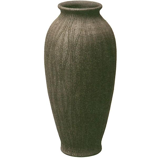 【日本製】 花器 流線スレンダー花入 17号 全高52cm×幅24cm 信楽焼 しがらきやき 陶器製 焼き物 国産品 フラワーベース 花瓶 器 フラワーアレンジメント