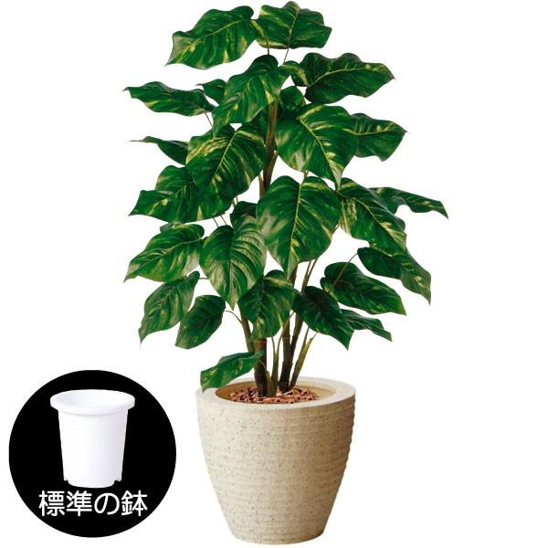 人工観葉植物 全高1.1m ポトス オウゴンカズラ 人工樹木 造花 葉材 リーフ フェイクグリーン インテリアグリーン オブジェ ディスプレイ 装飾