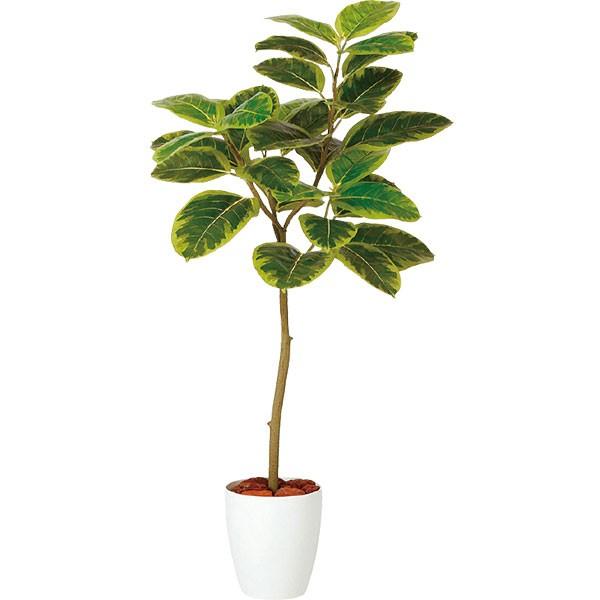 人工観葉植物 全高1.2m フィカス アルテシマ ホワイト鉢 FST アルティッシマ 人工樹木 造花 花材 リーフ 葉材 インテリアグリーン フェイクグリーン オブジェ ディスプレイ ディスプレー 装飾