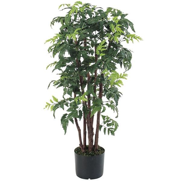 人工観葉植物 全高95cm アラリア 幹:自然木 アラレア ディジゴセカ 人工樹木 造花 花材 リーフ 葉材 インテリアグリーン フェイクグリーン オブジェ ディスプレイ ディスプレー 装飾