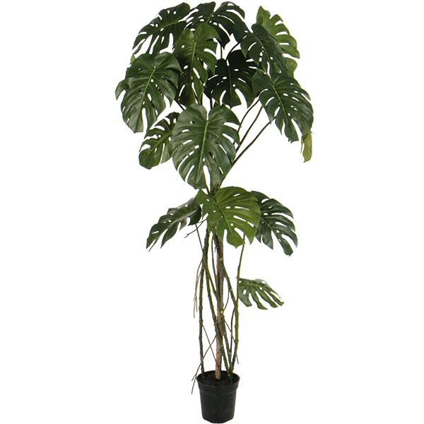 人工観葉植物 全高1.73m モンステラ ホウライショウ 鳳来蕉 人工樹木 造花 フェイクグリーン インテリアグリーン オブジェ ディスプレイ 装飾