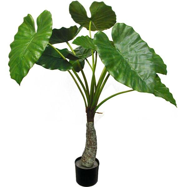 人工観葉植物 全高1.2m クワズイモ グリーンパラソル 人工樹木 造花 フェイクグリーン インテリアグリーン オブジェ ディスプレイ 装飾