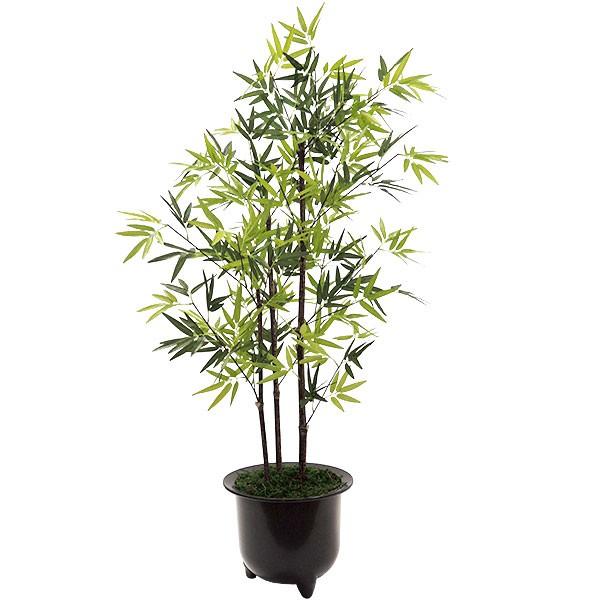 人工観葉植物 全高1.0m 黒竹 3本立 タケ たけ 笹の葉 バンブー 竹 人工樹木 造花 リーフ 葉材 花材 インテリアグリーン フェイクグリーン オブジェ ディスプレイ 装飾