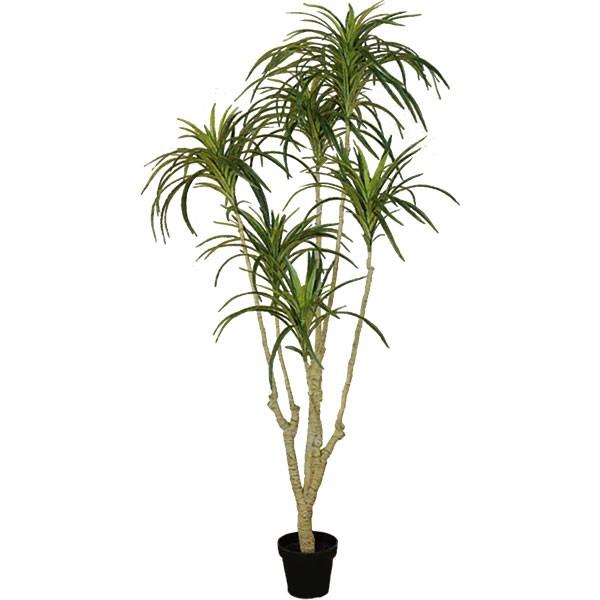 人工観葉植物 全高1.35m ドラセナ ユッカ 青年の木 エレファンティペス 人工樹木 造花 リーフ フェイクグリーン インテリアグリーン オブジェ ディスプレイ 装飾