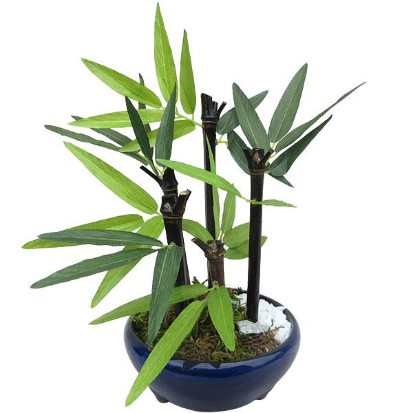 人工観葉植物 全高23cm ミニ竹 5本立 タイプB 小鉢 卓上サイズ タケ たけ 笹の葉 バンブー 人工樹木 造花 リーフ 葉材 花材 インテリアグリーン フェイクグリーン オブジェ ディスプレイ 装飾