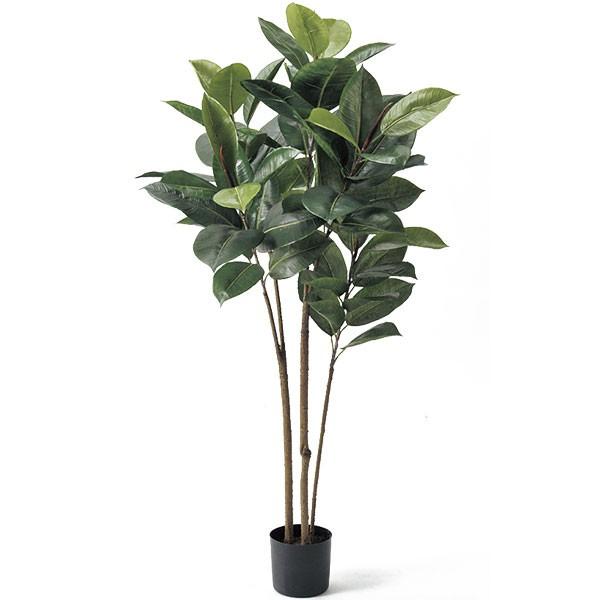 人工観葉植物 ゴムノキ 全高1.1m ゴムの木 フィカス エラスティカ 人工樹木 造花 花材 インテリアグリーン フェイクグリーン オブジェ ディスプレー