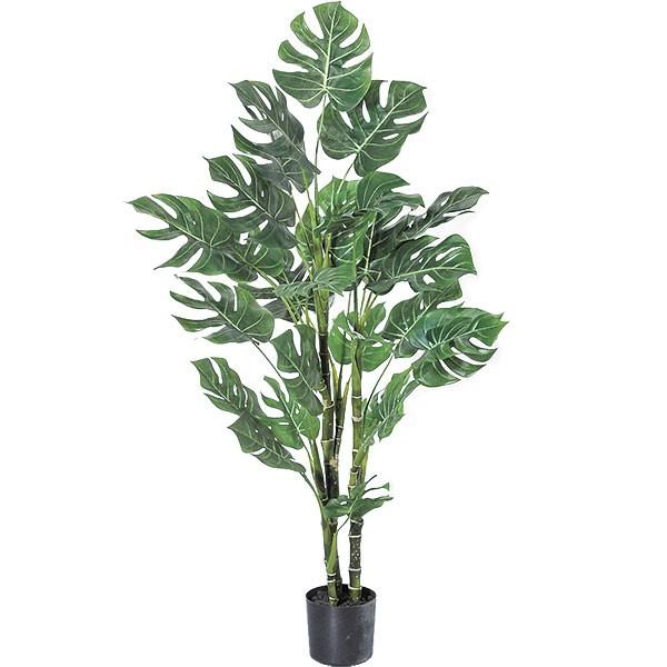 人工観葉植物 全高1.08m モンステラ ホウライショウ 鳳来蕉 人工樹木 造花 フェイクグリーン インテリアグリーン オブジェ ディスプレイ 装飾