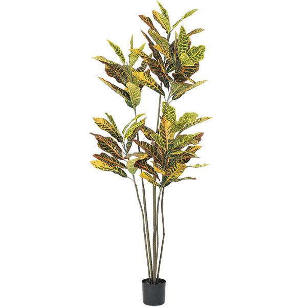 人工観葉植物 全高1.55m クロトン 変葉木 ヘンヨウボク クロトンノキ 人工樹木 造花 インテリアグリーン フェイクグリーン オブジェ ディスプレイ 装飾