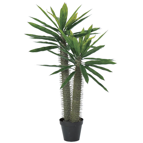 人工観葉植物 パキポジウム 全高94cm パキポディウム ラメリー 人工樹木 造花 インテリアグリーン フェイクグリーン オブジェ ディスプレイ 装飾