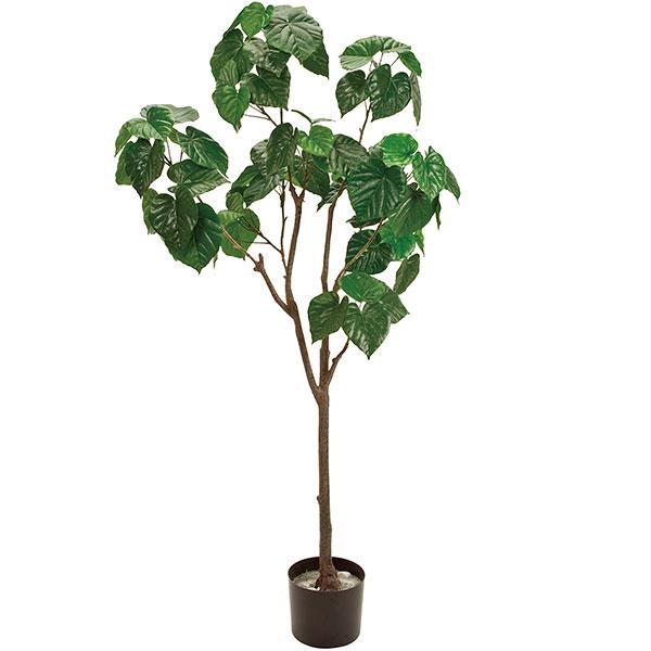 人工観葉植物 全高1.4m フィドル 人工樹木 造花 フェイクグリーン インテリアグリーン オブジェ ディスプレイ ディスプレー 装飾
