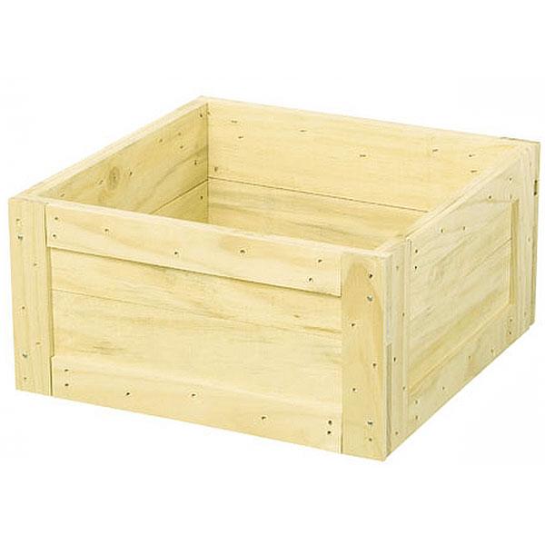 鉢カバー ウッドツリーベースM ナチュラル 全高26cm×口52cm 底板なし 木製 ツリーデコレーション クリスマスツリー 足元隠し