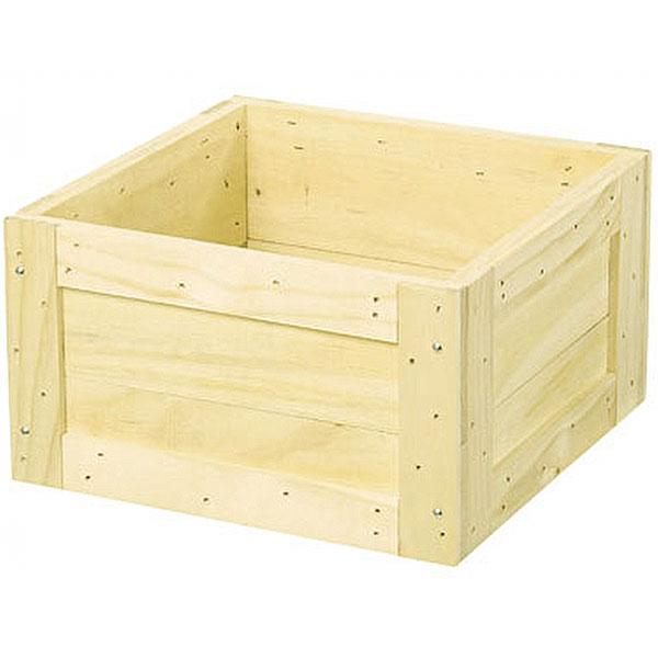 鉢カバー ウッドツリーベースS ナチュラル 全高25.5cm×口45cm 底板なし 木製 ツリーデコレーション クリスマスツリー 足元隠し
