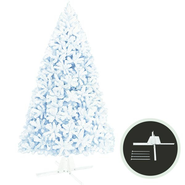 クリスマスツリー ホワイトツリー 全高360cm 人工観葉植物 人工樹木 造花 フェイクグリーン インテリアグリーン オブジェ ディスプレイ 装飾