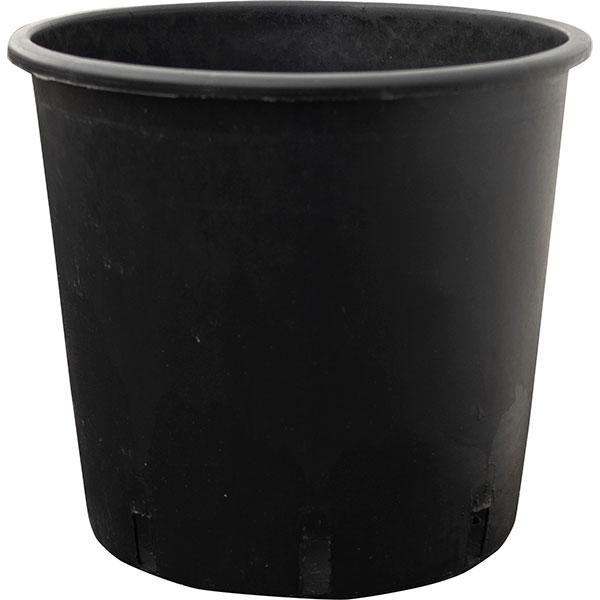 植木鉢 シンプルブラック 35型 10個セット 全高37cm×直径38cm 底穴あり ポリエチレン製 プランター ポット ナセーリー 観葉鉢 園芸 寄せ植え