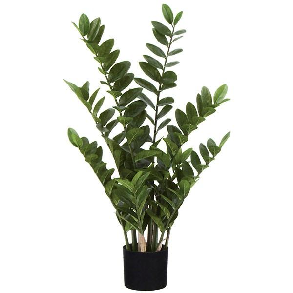 全高90cm オブジェ 造花 人工観葉植物 装飾 ザミフォリア フェイクグリーン 人工樹木 インテリアグリーン ザミーフォリア ザミオクルカス ディスプレイ