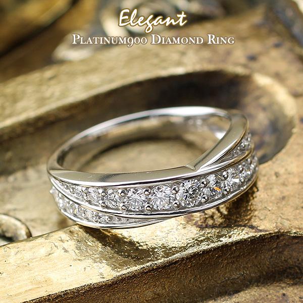 プラチナ ダイヤモンド リング 指輪 『Elegant エレガント』 0.54ct プラチナ900 PT900 送料無料 一粒ダイヤ レディース ジュエリー 高品質 【送料無料】05P05July14