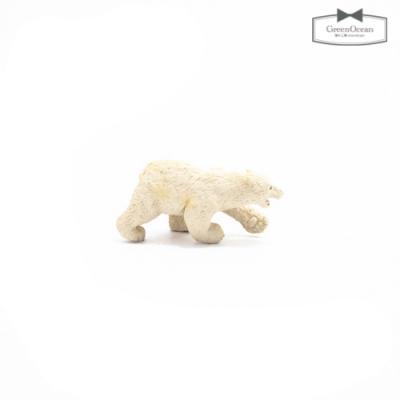 かわいい白クマのフィギュア♪ 【動物フィギュア】白クマのアイス君【動物 フィギュア くま シロクマ 動物園 小物 モチーフ ビーズアンドパーツ アクセサリーパーツ】