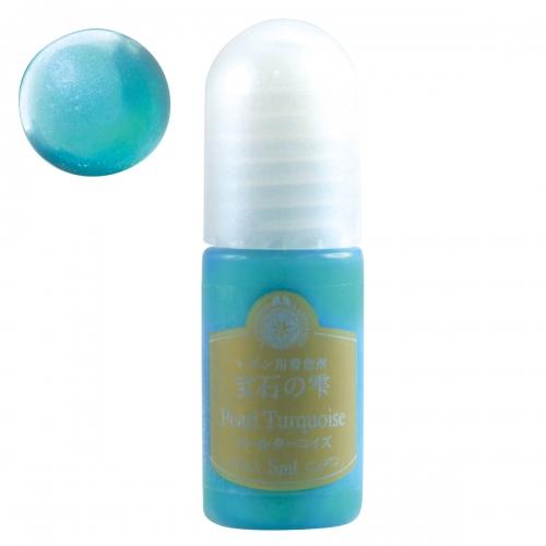 レジン着色剤 5ml 宝石の雫 《パールターコイズ》 PADICO padico アクセサリーパーツ ギフト 真珠 定番から日本未入荷 青 キラキラ パジコ ビーズアンドパーツ