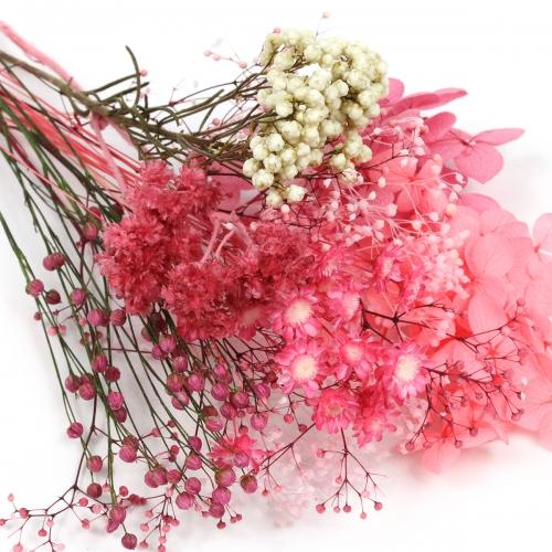 【ドライフラワー】どっさり!ハーバリウム花材8種セット《ピンクグラデーション》[プリザーブド 紫陽花 カスミソウ]