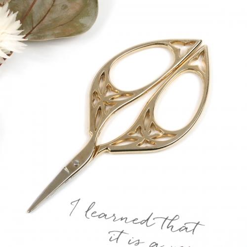 工具 即納 デザインシザーA《きれいめゴールド》 鋏 ハサミ 定番スタイル はさみ 糸切り 手芸 裁縫 洋裁 道具