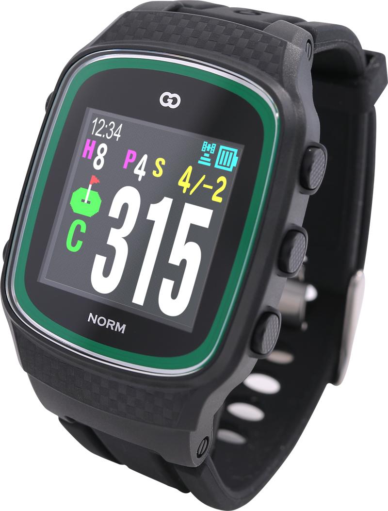 みちびきL1S対応で誤差1mの高精度GPSゴルフナビ GreenOn『THE GOLF WATCH NORM』(グリーンオン『ザ・ゴルフウォッチ ノルム』)[腕時計型][GPSキャディー][GPS][ナビ][スマホ連動][高精度][距離計][]