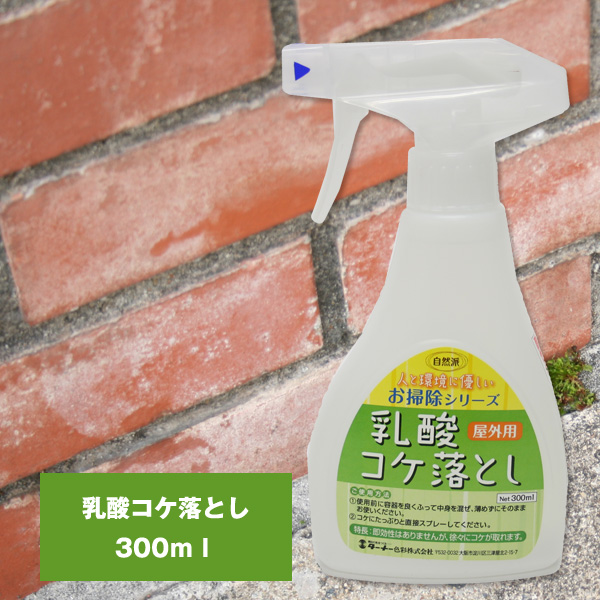 Lactic acid Moss Remover (for outdoors) 300 ml, MOSS-Moss-headstone-wall-removal-entrance-tiles-Moss for cleaning agents, rainy season