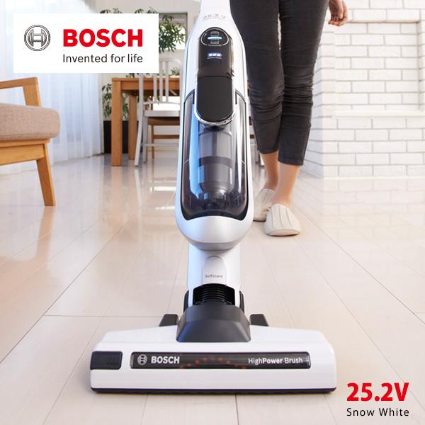 【送料無料】Bosch(ボッシュ)コードレスクリーナー アスリート 25.2V [スノーホワイト] Bosch BCH6AT25JP Athlet サイクロン式 充電 掃除機 ハンディー スティック 自立式 【最大500円OFFクーポン発行中 2月16日1:59まで】ボッシュ コードレスクリーナー アスリート 25.2V [スノーホワイト](総輸入発売元/Bosch Athlet BCH6AT25JP サイクロン式 充電式 掃除機 吸引力 ハンディー スティック 自立式/4242002851853)