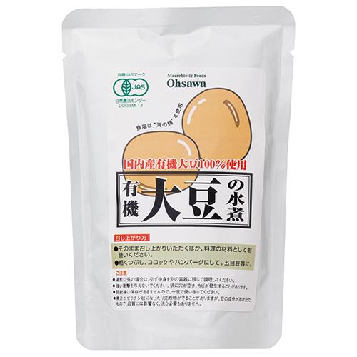 送料無料 国産大豆を100%使用し 本日限定 保存料などの添加物は一切不使用 有機大豆の水煮 230g ow jn 固形量140g