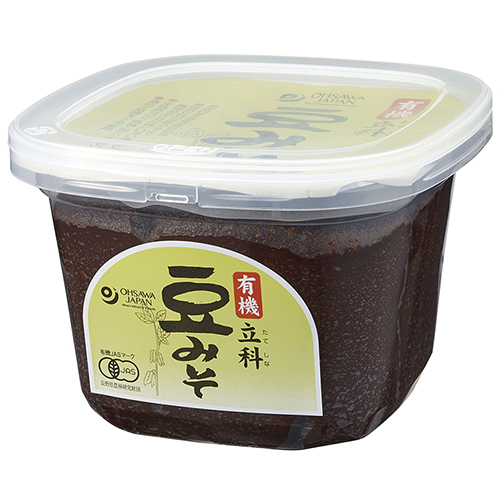 2夏以上熟成させた濃厚な旨味のある味噌 オーサワ 有機立科豆みそ 750g お求めやすく価格改定 jn 買物 ow