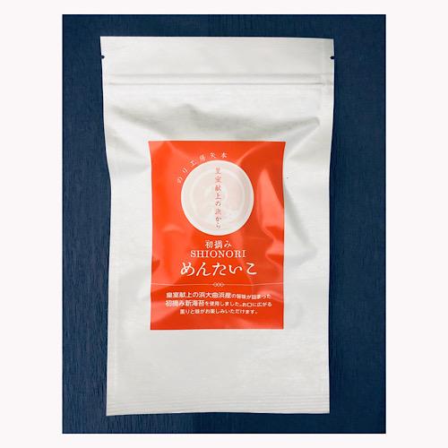 宮城県東松島市大曲浜産の海苔を使用 贈呈 めんたいこの風味をプラスした塩海苔です 塩のり 人気激安 めんたいこ 八切り24枚 ゆうパケットで発送