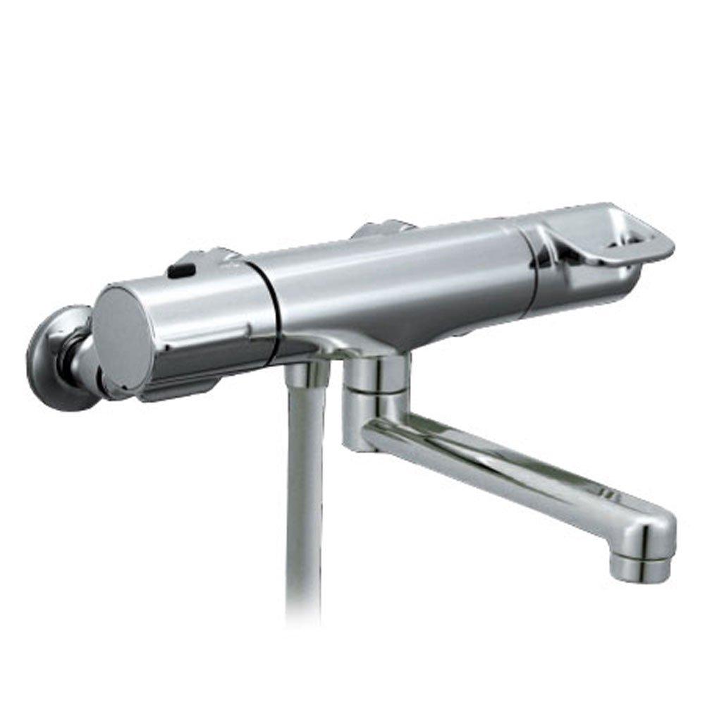【送料無料】LIXIL サーモスタット付 シャワーバス水栓 RBF-712W | メッキハンドル 48%節水 スイッチ【取寄せ品】