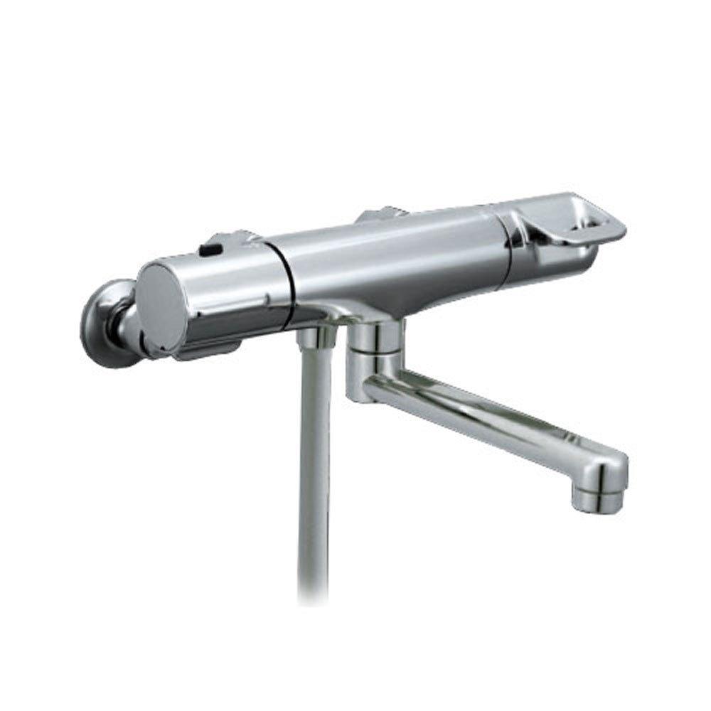 【送料無料】LIXIL サーモスタット付 シャワーバス水栓 RBF-714W   メッキハンドル 高級ヘッド 48%節水 スイッチ【取寄せ品】