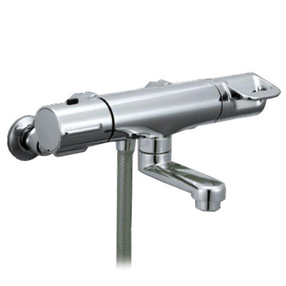 【送料無料】LIXIL サーモスタット付 シャワーバス水栓 RBF-713W | メッキハンドル 短尺 48%節水 スイッチ【取寄せ品】