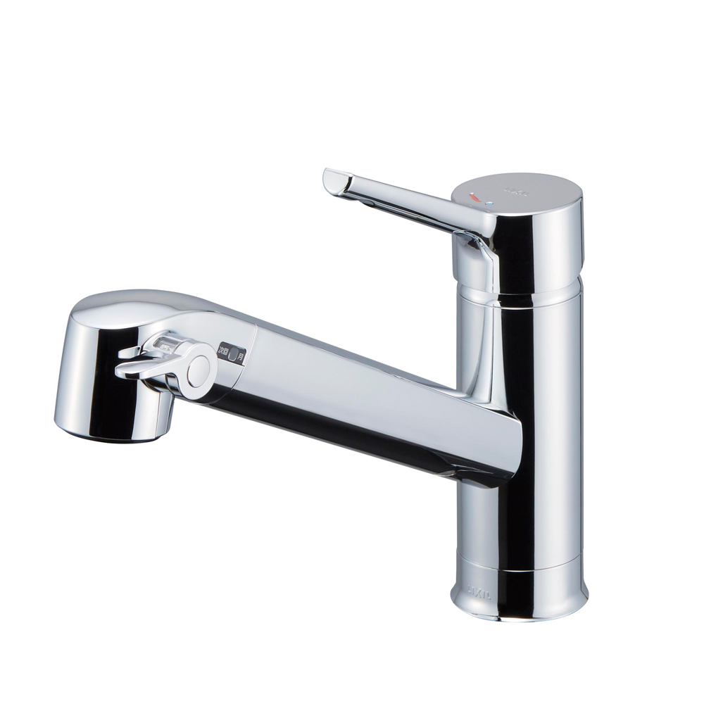 【送料無料】LIXIL(リクシル) INAX キッチン用 浄水器内蔵シングルレバー混合水栓 エコハンドル RJF-871Y