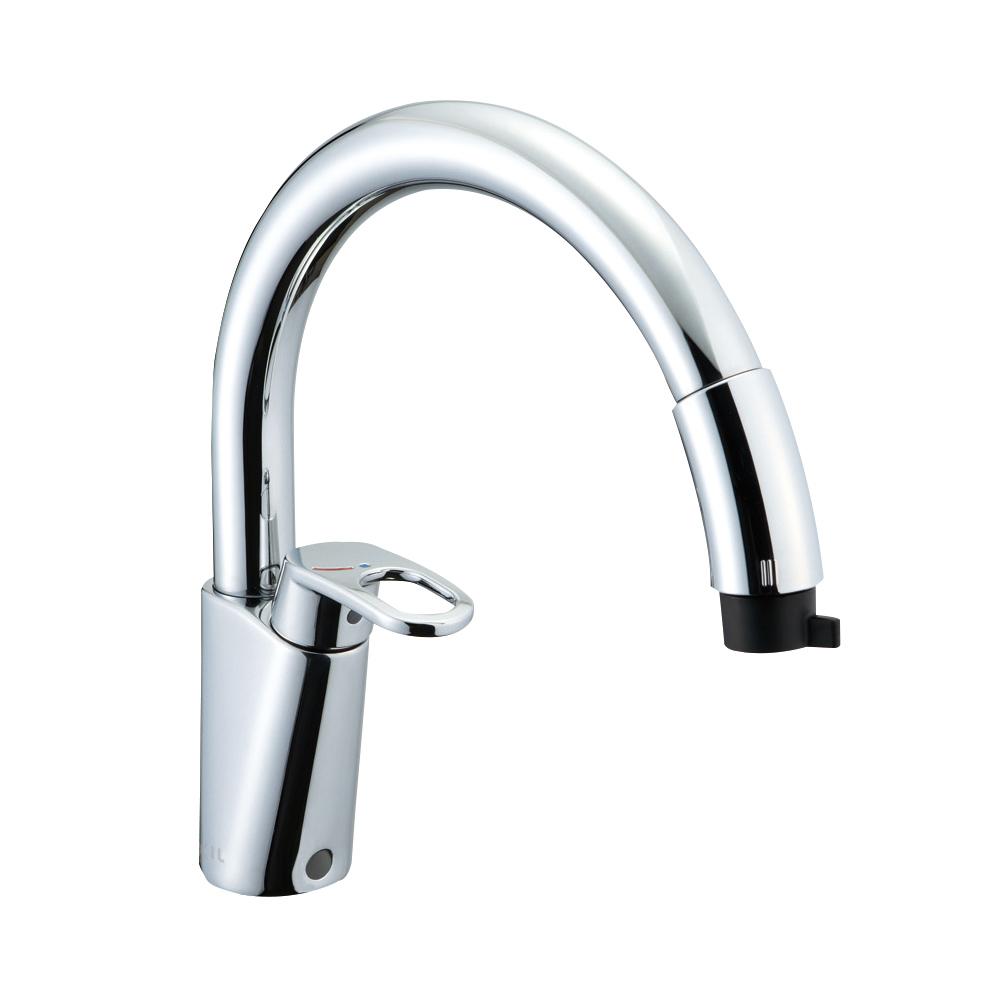 LIXIL(リクシル) INAX キッチン用 ワンホールシングルレバー混合水栓 ハンドシャワー付 エコハンドル RSF-831Y