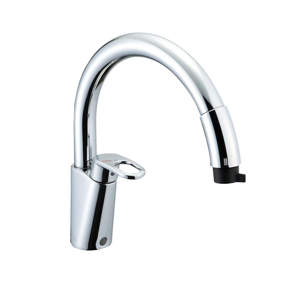 【送料無料】LIXIL(リクシル) INAX キッチン用 ワンホールシングルレバー混合水栓 凍結防止水抜き仕様 RSF-831YN