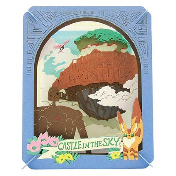 空中的城rapyuta PAPER THEATER(纸电影院)PT-063吉卜力工作室/机器人兵/狐狸松鼠/ENSKY/剪纸