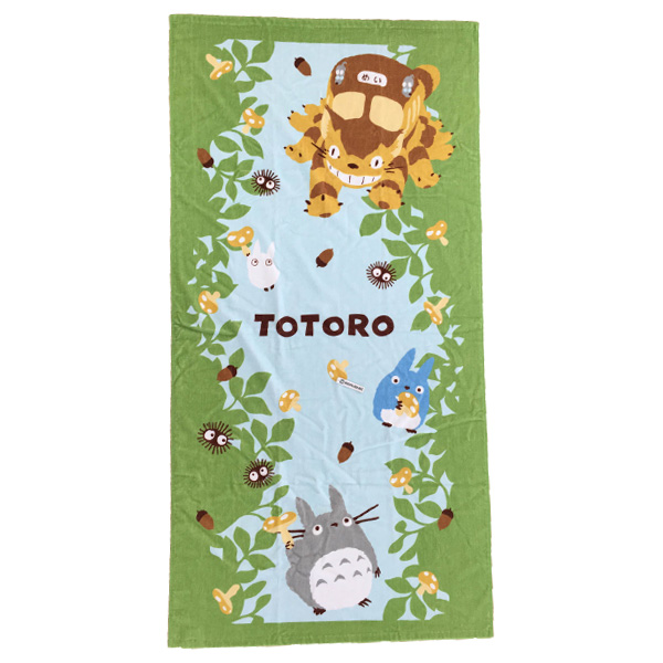 My neighbor Totoro bath towal /(29.9x59.8inch)Big,Middle, Small Totoro / makkuro / Cat Bus / Beach bath towel / dye print and shirring.